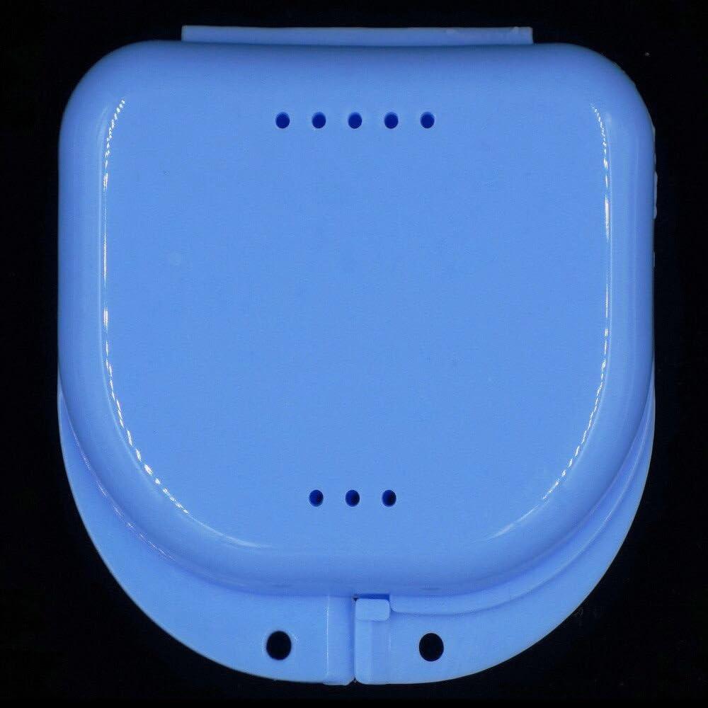 FiedFikt Caja de dentaduras dentales para electrodomésticos, caja de limpieza de baño dental, ideal para el cuidado dental, fácil de abrir, almacenar y recuperar