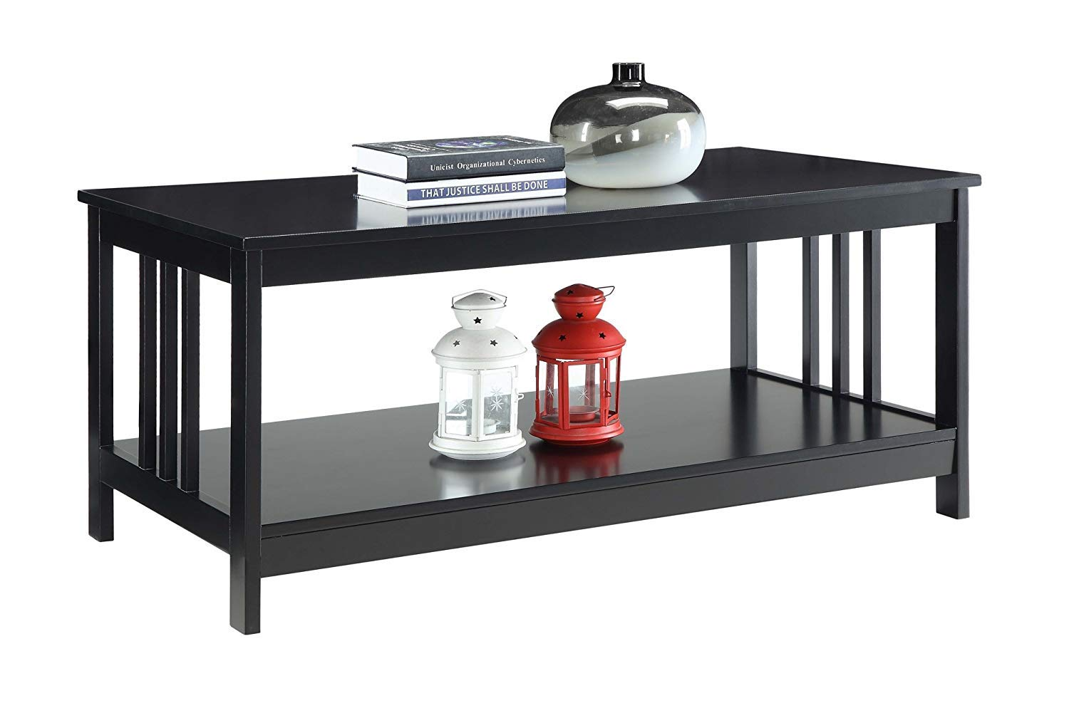 Convenience Concepts 203382BL Mission Coffee Table, Black