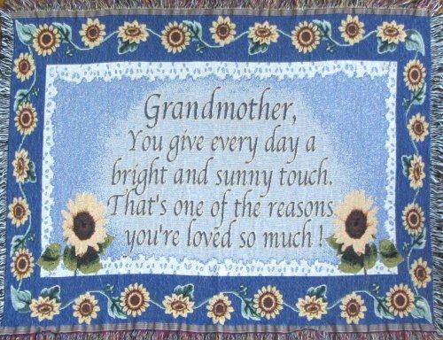 Grandmother Throw Blanket - Grandma Gift Made in USA