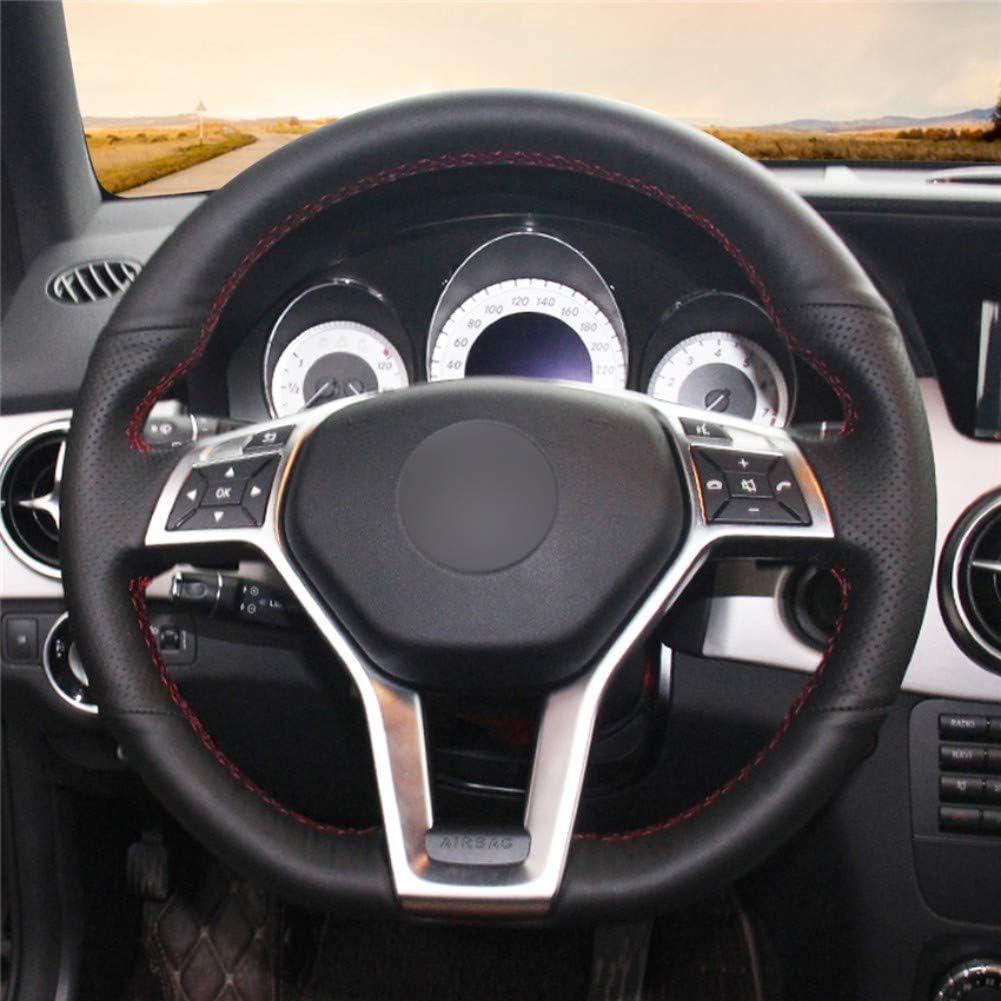 DANDELG ///Coprivolante in Pelle/Nera/ per Mercedes-Benz Classe A 2013-2015 Classe CLA 2013 2014 Classe C 2013 2014