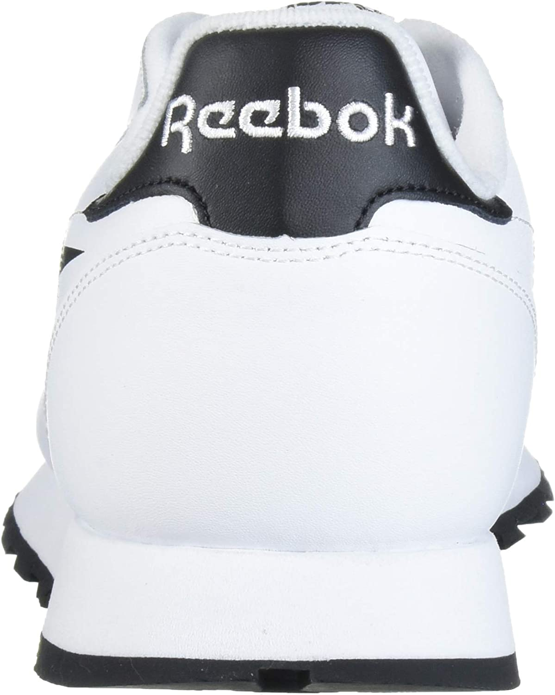 Reebok Classic Leather, Tennis Homme Blanc Noir Émeraude