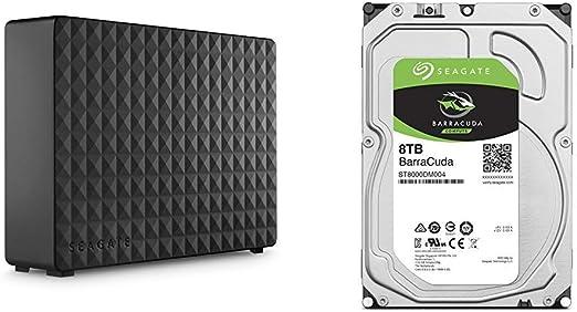 【セット買い】【Amazon.co.jp限定】Seagate Expansion HDD 10TB TV録画 静音 縦横置 省エネ 3年保証 外付け ハードディスク 3.5インチ STEB10000400 & Seagate BarraCuda 3.5