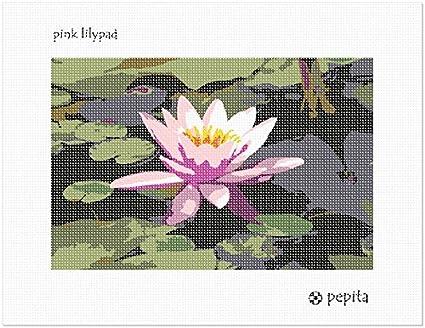 pepita Pink Lilypad Needlepoint Kit