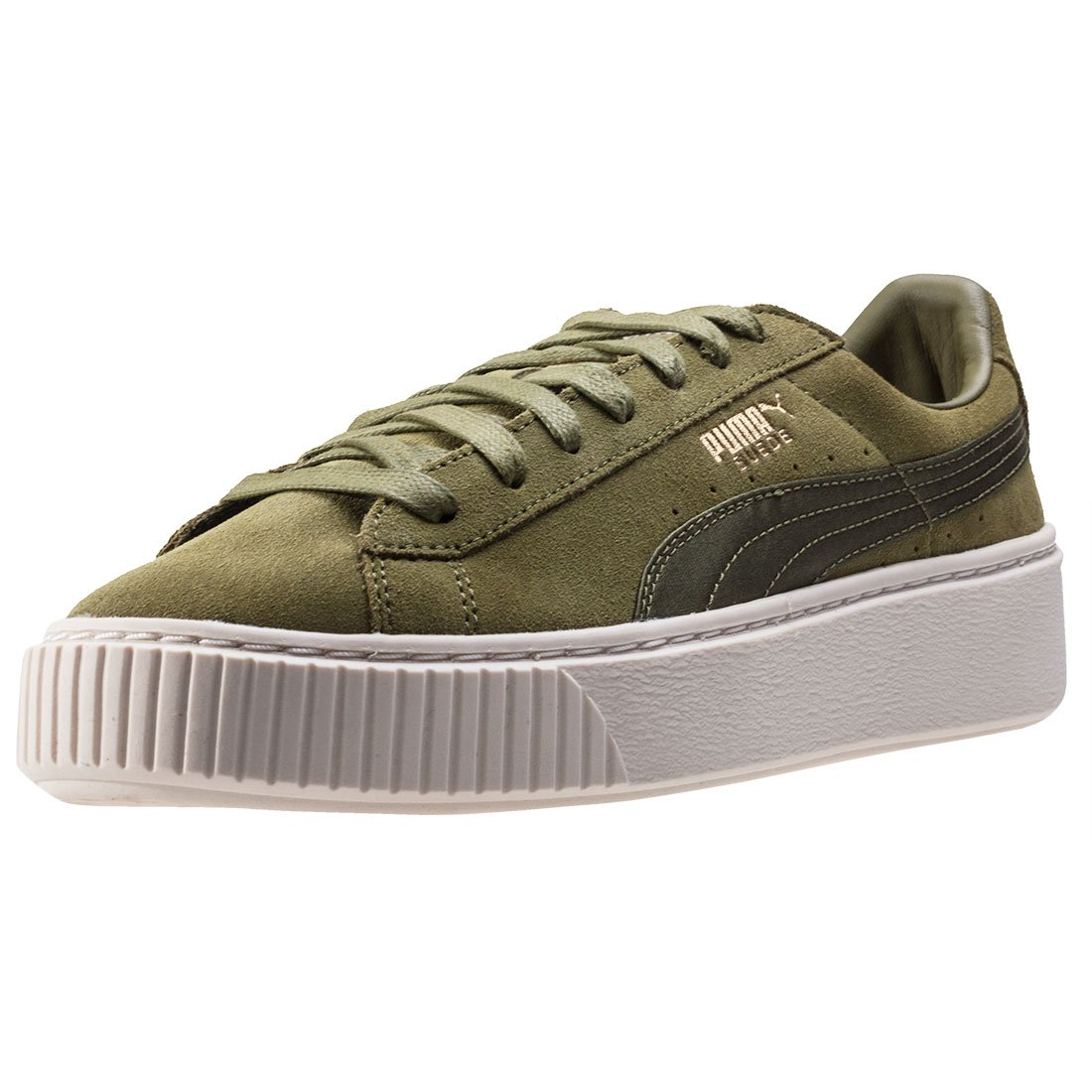 buy popular dc849 cc669 Puma Suede Platform Satin Womens Trainers: Amazon.co.uk ...