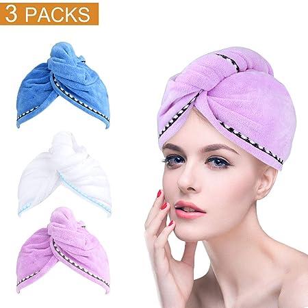 meilianeu Microfiber Turban Wrap Hair Towel 6bc730c868c7