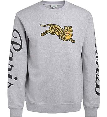 3426205f Kenzo Men's Pearl Grey Jumping Tiger Sweatshirt: Amazon.co.uk: Clothing