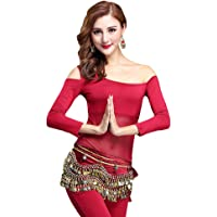 YiJee Mujer Belly Dance Tops Camiseta Off Shoulder