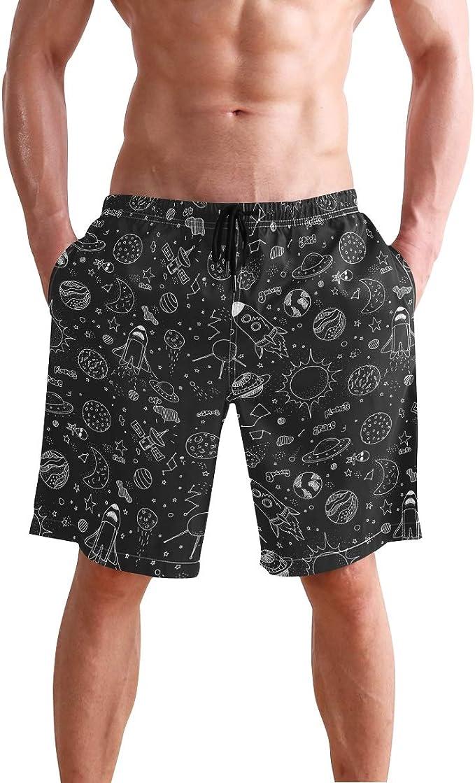 Fox Mens Swim Trunks Quick Dry Mens Shorts with Side Pockets Mesh Lining M-XXL