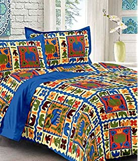 9bff784e255 Uniqchoice Double Bedsheet 100% Pure Cotton Jaipuri   Rajasthani  Traditional King Size Bed Sheet With