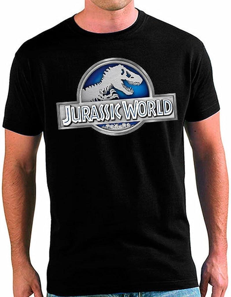Mx Games Camiseta Jurassic World Unisex Adultos Logo Classic (Todas Las Tallas) (5-6 años)