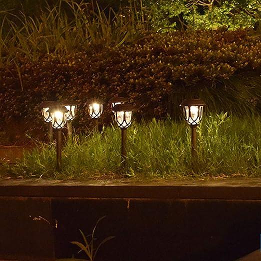 Xshuai RTE 4 Luces LED solares para iluminación de Caminos y paisajes, Luces para césped y decoración de jardín: Amazon.es: Jardín
