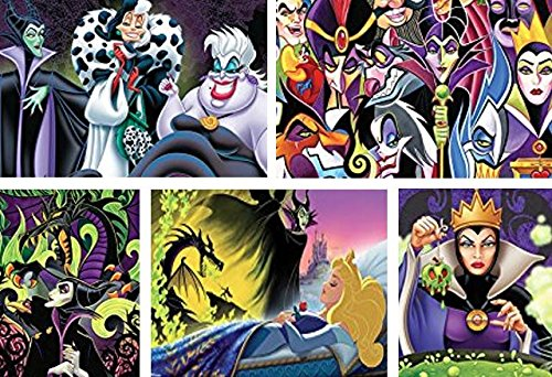 Ceaco Disney Villains 5-in-1 Multipack Jigsaw Puzzle Set