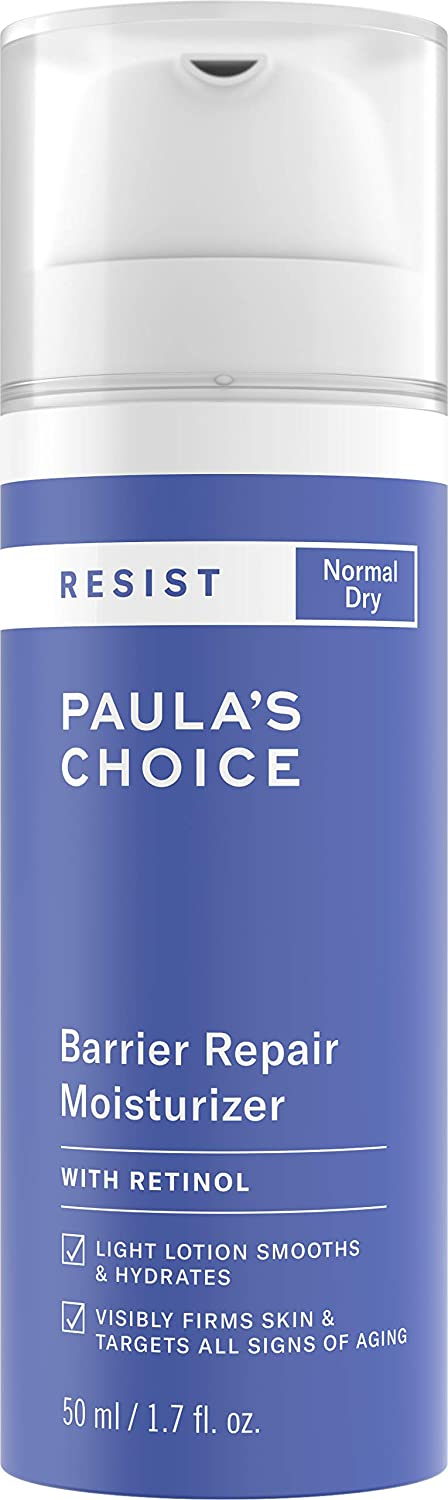 Paula's Choice RESIST Barrier Repair Moisturizer with Retinol, Squalane & Shea Butter, Cream for Anti-Aging & Wrinkles, Dry Skin, 1.7 Ounce
