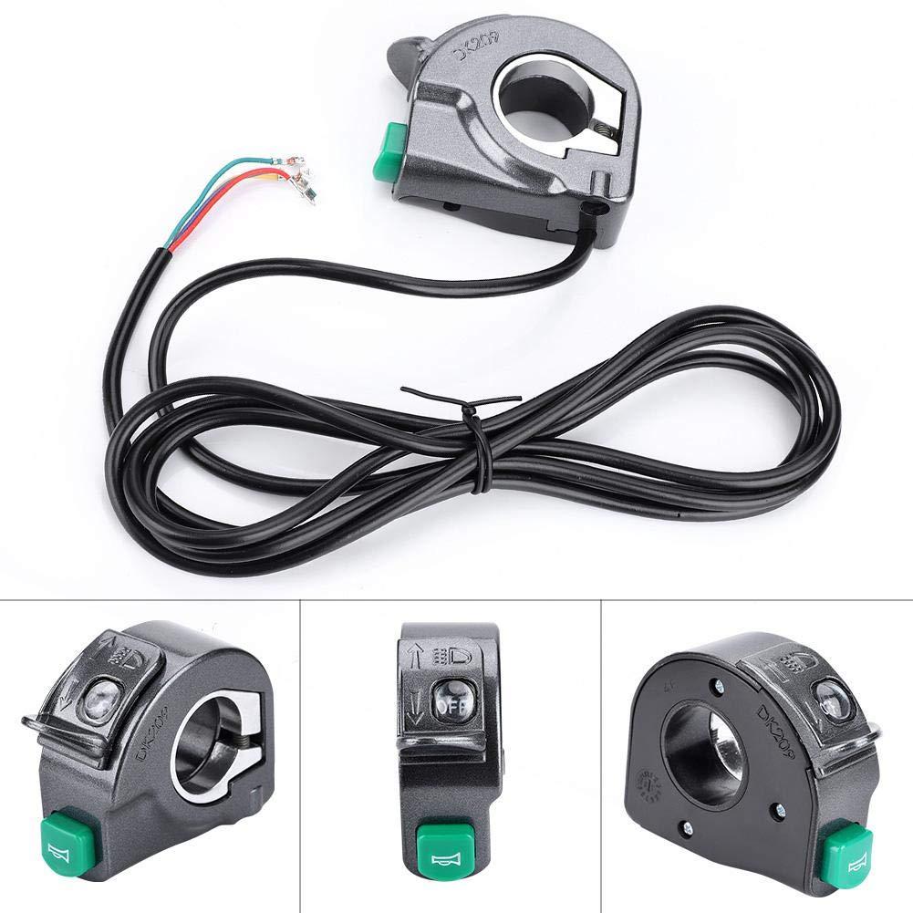 VGBEY Interruptor del Manillar Interruptor de Control de los Faros Delanteros de la E-Bici 3-In-1 Interruptor de la luz de Giro para la Bici el/éctrica de la Vespa de la Bici de monta/ña