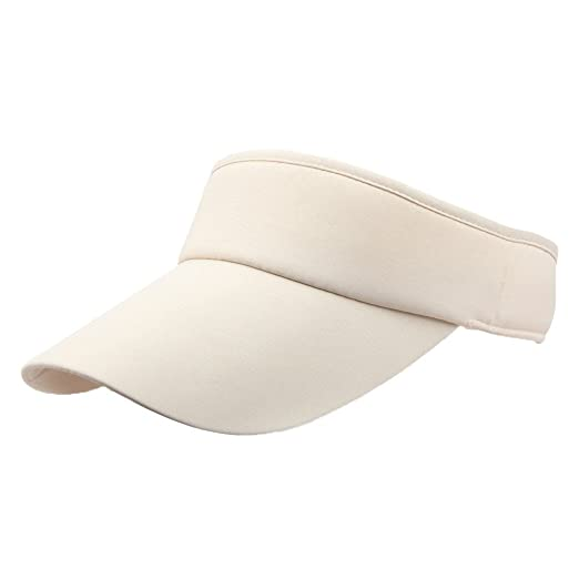 Unisex Sun Sports Visor Large Brim Summer UV Protection Beach Cap Top Level  100% Cotton dc507b2992c8