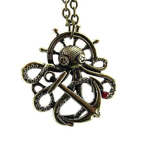 Amazon.com: Steampunk Necklace Bronze Octopus Nautical Retro ...