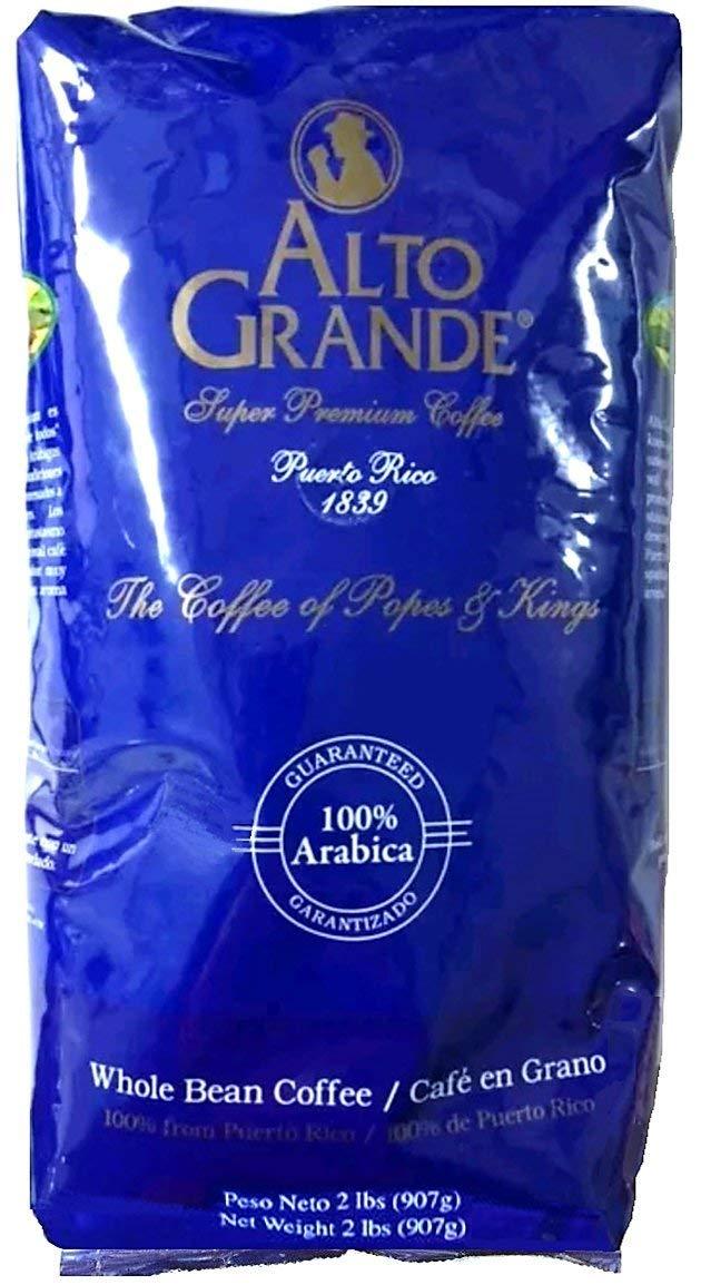 Alto Grande Premium Coffee Whole Bean - 2 Lbs (Pack of 2)