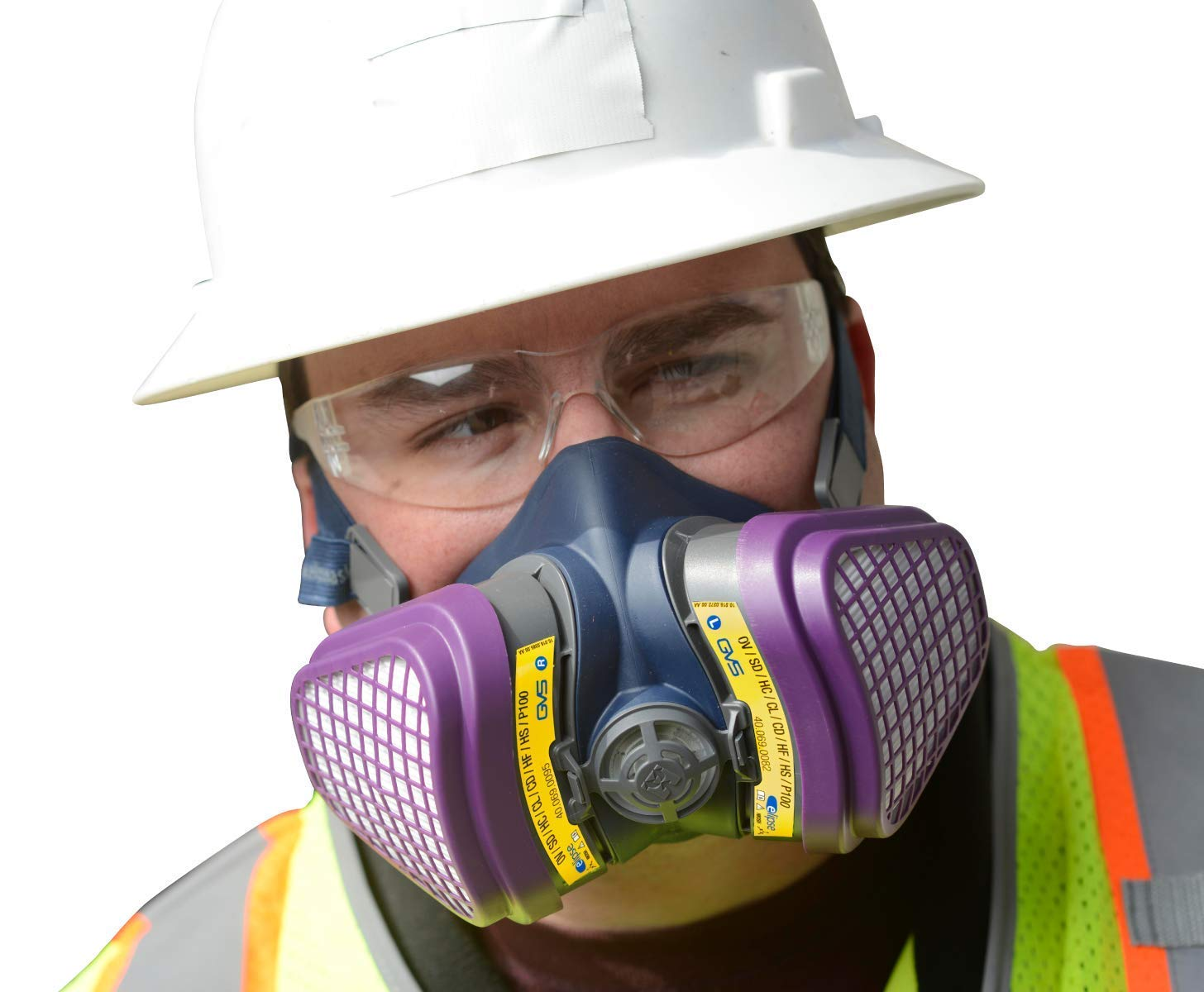 GVS SPR473 Elipse OV/AG-P100 Dust and Organic/Acid Gas Vapour Half Mask Respirator with Replaceable and Reusable Filters Included by GVS Elipse (Image #3)