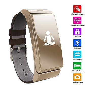 Jiazy bluetooth SmartWatch Reloj del deporte del monitor del ritmo cardíaco Llamadas Soporte para IOS y Android