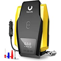 VacLife Tire Inflator DC 12V Portable Air Compressor (Yellow)
