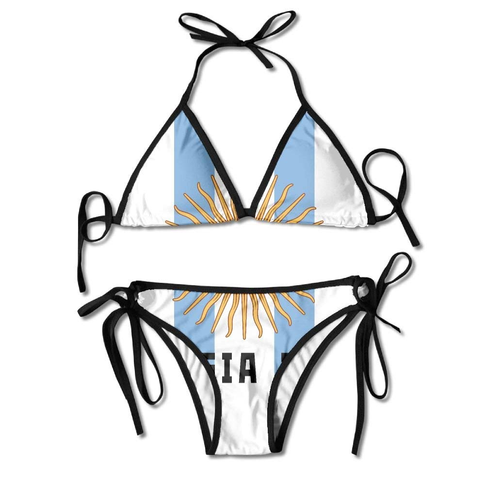 chipo Soccer of Argentina Flag Womens Two-Piece Suits Bikini ...