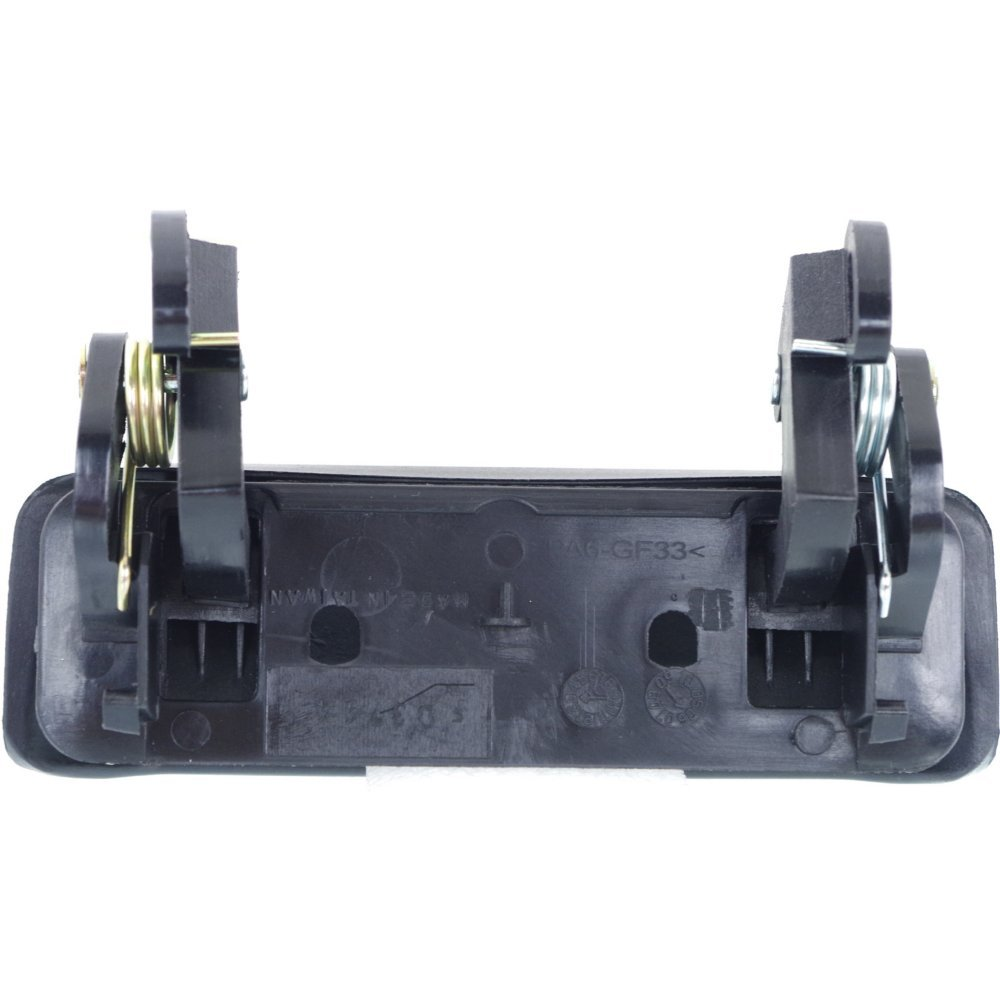 Exterior Door Handles for Set of 4 Front and Rear Left and Right Side Plastic Smooth Black