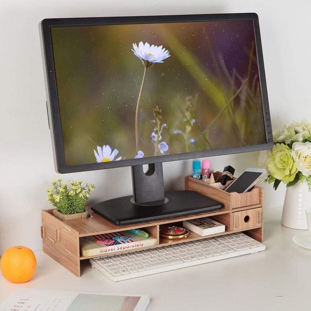 Rockyin Monitor Portatile Schermo Stand Computer Support Modern Office Desk Rack Shelf