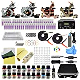 Wormhole Tattoo Complete Tattoo Kit with Case Tattoo Power Supply Kit 20 Tattoo Inks 50 Tattoo Needles 4 Pro Tattoo Machine Kit Tattoo Supplies Tattoo Kit for Beginners TK1000046