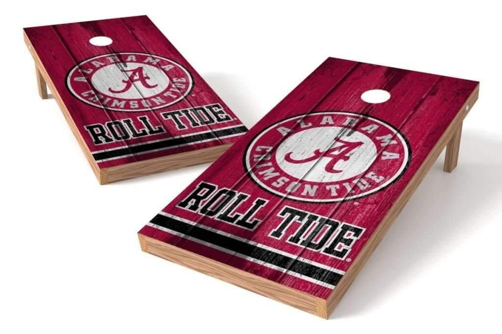 PROLINE NCAA College 2' x 4' Alabama Crimson Tide Cornhole Board Set - Vintage