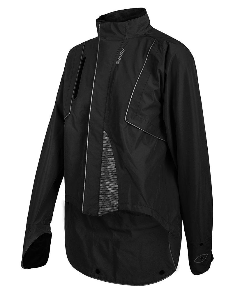 Santini Drun雨レギュラーフィットブラックジャケット2016 B013SKHSGM Medium
