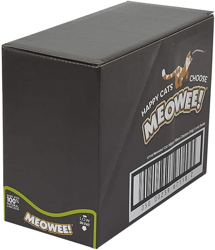 Low Fat Cat Treats With Catnip Meowee! Cat-Nippy Fillets Chicken Case of 12 Made With 100/% Natural Chicken Cat Treats 35 Grams ℮