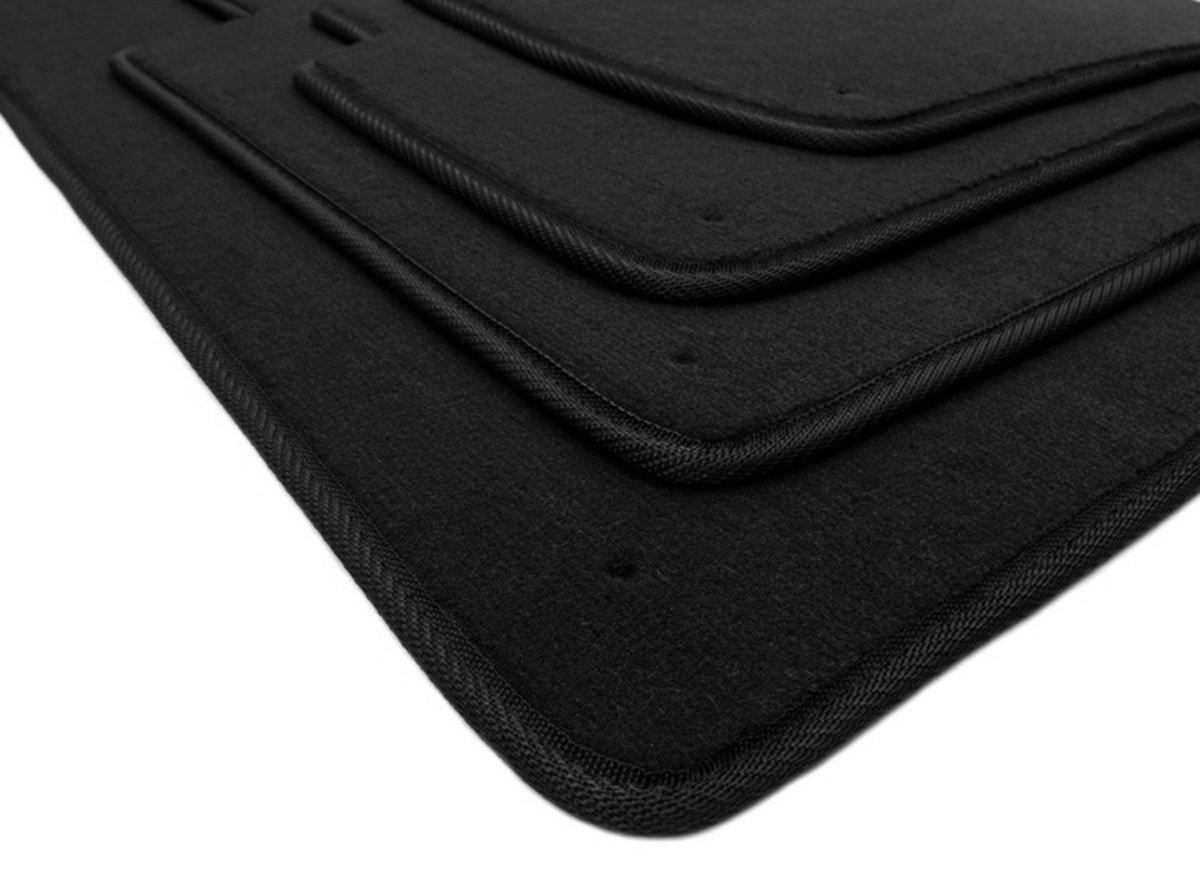 kfzpremiumteile24 Fuß matten / Velours Automatten Original Qualitä t Stoffmatten 4-teilig schwarz
