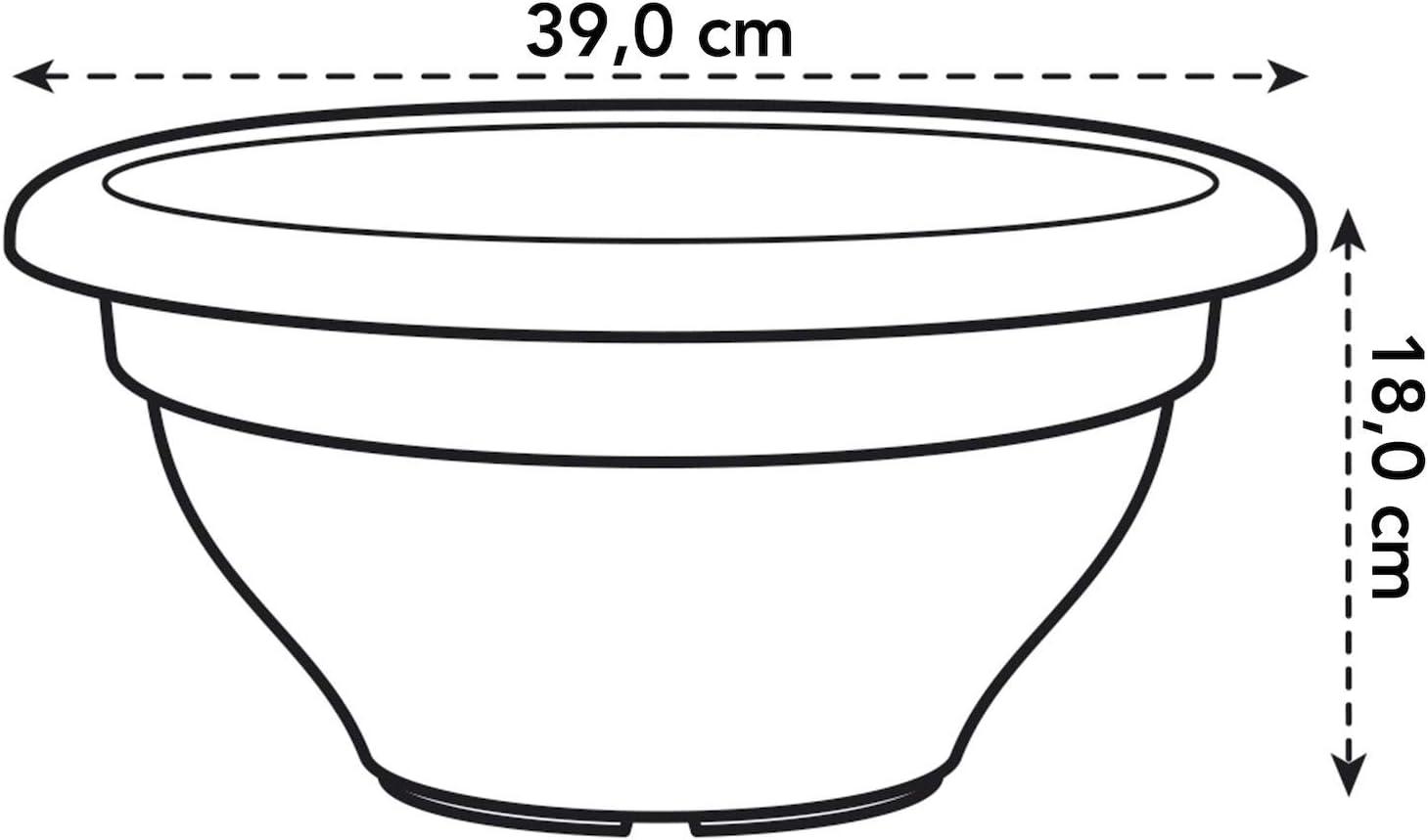 /Ø 39.6 x H 44.6 cm Elho Torino Campana Carr/é Haut 40 Pot De Fleurs Taupe Ext/érieur