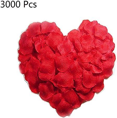 200 X Soie Rouge Rose pétales Confettis Mariage Anniversaire Fiançailles decor