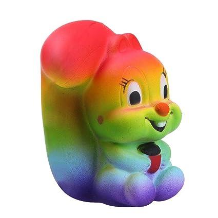 Amazon.com: Longay - 1 peluche de ardilla de arco iris de ...