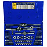 Irwin Industrial Tools 24640 Machine Screw with Fractional Tap and Hex Die Set, 53-Piece