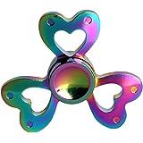 Zenoplige Finger Spinner Fidget Mano K8 Dito Hand Spinner Toy Spin Widget Focus Giocattolo Antistress Alta Velocit¨¤ Superb Acciaio Inox Cuscinetto Tasca Perfetto per Adulti e Bambini, Colore Multicolor