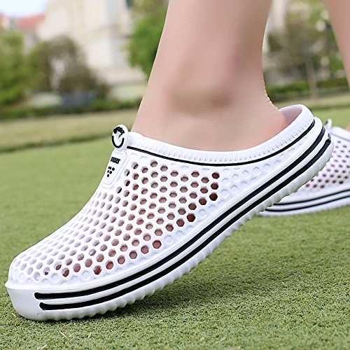 Sandals White Quick Shoes Clogs Walking QTMS Womens Comfortable Drying Garden Slippers qxvwTzf