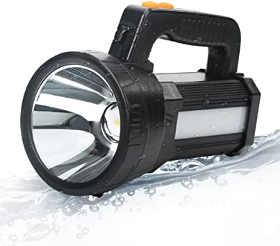 Rechargeable LED Searchlight Flashlight Night Torch Spotlight Bright Spot Beam