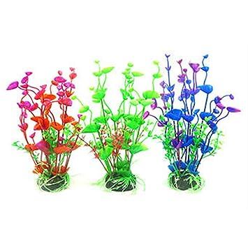 youchuan - Plantas Artificiales acuáticas para Acuario, plástico, decoración de pecera, 19 cm