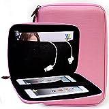 Kroo Dragon Touch i8 Pro 8-inch Tablet Case | Baby Pink Semi Hard EVA Sleeve
