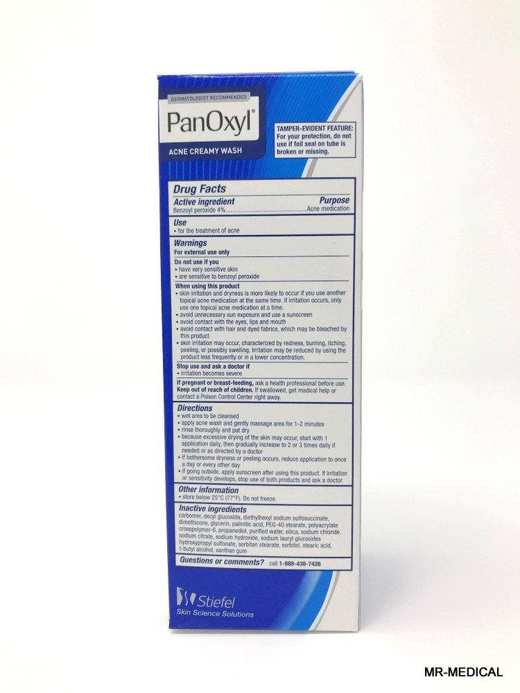 PanOxyl - 4 acne cream wash 4% Benzoyl Peroxide 6 Oz by PanOxyl (Image #2)