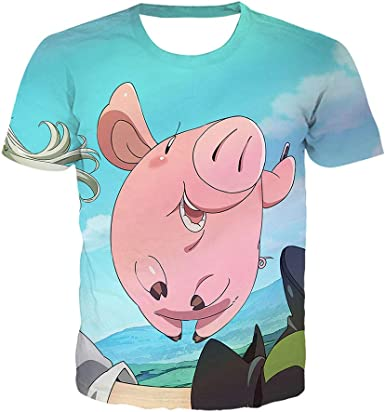 Los Siete Pecados Mortales Impresos Manga Corta T-Camisa ...
