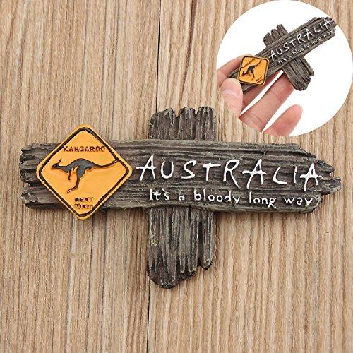BangBang Bloody Long Way Australia Kangaroo Resin Souvenir 3D Fridge Magnet (3 Ways Fridge)