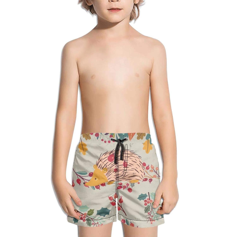 Etstk Hedgehog Kids Quick Dry Swim Trunks for Students
