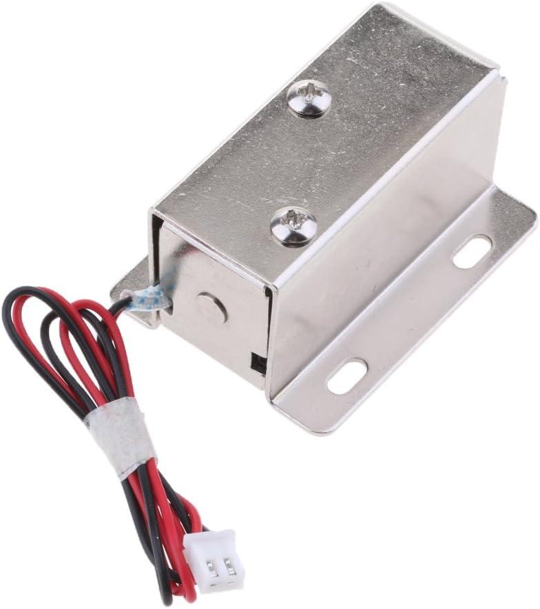 Mini Cerradura Magn/ética El/éctrica Universal 12V 0.6A Para El Armario Del Gabinete De La Puerta