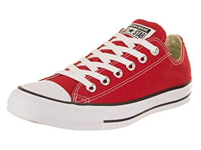 1cd18c55545653 Image Unavailable. Image not available for. Color: Converse Unisex Chuck  Taylor All Star Low Top Red Sneakers ...