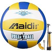 Maidi Balón de Voleibol de Entrenamiento, Tacto Suave, tamaño 5 para Interior y Exterior