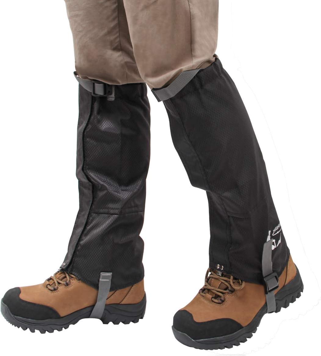 Luxiv Leg Gaiters Snow Boot Gaiter, Waterproof Men Leg Gaiters for Women Shoe Gaiters 600D Oxford Fabric Outdoor Snowshoe Gaiter for Hiking, Climbing, Running