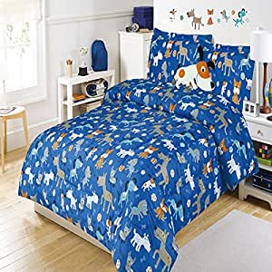 Amazon.com: 5 piece Kids Full Dog Themed Comforter Set ...